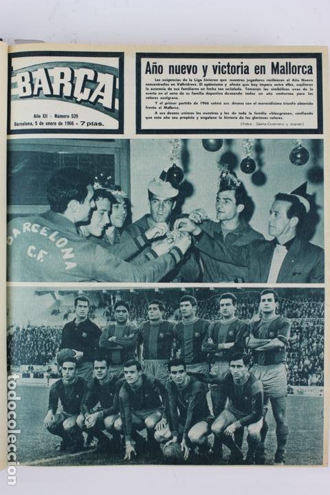 Coleccionismo deportivo: L-5219. REVISTA BARÇA ENCUADERNADA 20 TOMOS DESDE EL AÑO 1956 HASTA AÑO 1975. COMPLETOS. - Foto 33 - 140403982
