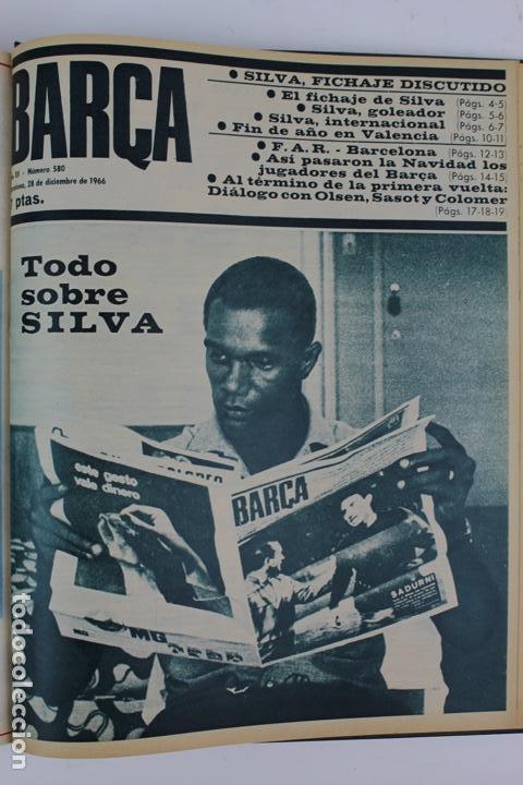 Coleccionismo deportivo: L-5219. REVISTA BARÇA ENCUADERNADA 20 TOMOS DESDE EL AÑO 1956 HASTA AÑO 1975. COMPLETOS. - Foto 34 - 140403982
