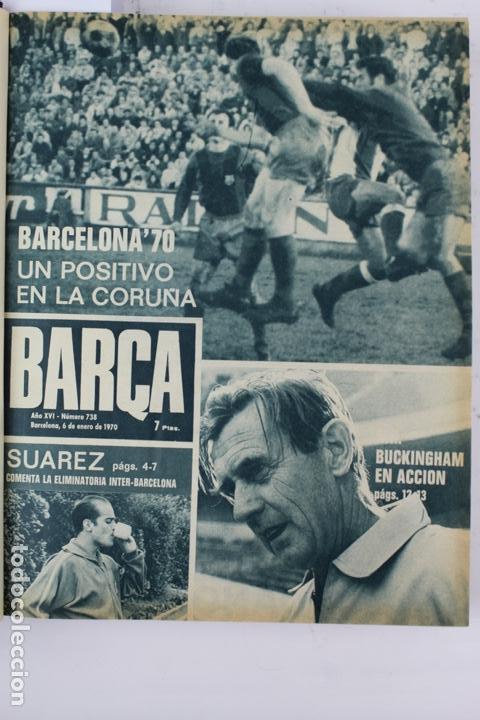 Coleccionismo deportivo: L-5219. REVISTA BARÇA ENCUADERNADA 20 TOMOS DESDE EL AÑO 1956 HASTA AÑO 1975. COMPLETOS. - Foto 35 - 140403982