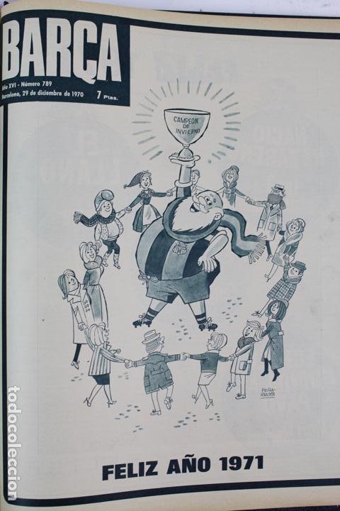 Coleccionismo deportivo: L-5219. REVISTA BARÇA ENCUADERNADA 20 TOMOS DESDE EL AÑO 1956 HASTA AÑO 1975. COMPLETOS. - Foto 36 - 140403982