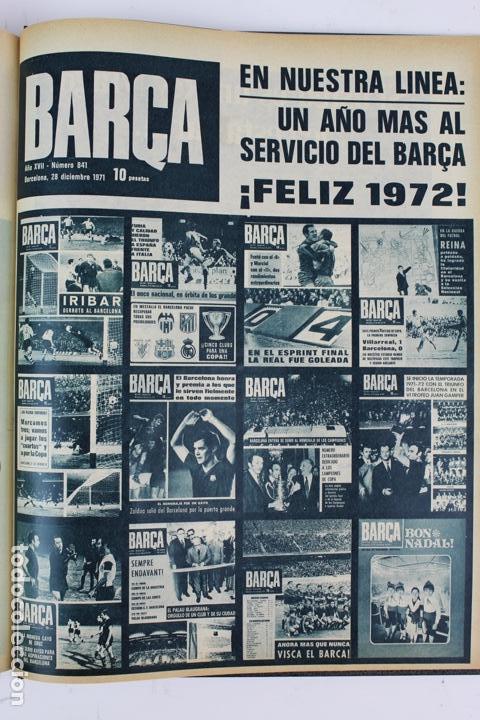 Coleccionismo deportivo: L-5219. REVISTA BARÇA ENCUADERNADA 20 TOMOS DESDE EL AÑO 1956 HASTA AÑO 1975. COMPLETOS. - Foto 38 - 140403982