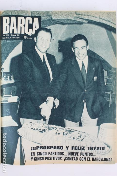 Coleccionismo deportivo: L-5219. REVISTA BARÇA ENCUADERNADA 20 TOMOS DESDE EL AÑO 1956 HASTA AÑO 1975. COMPLETOS. - Foto 39 - 140403982