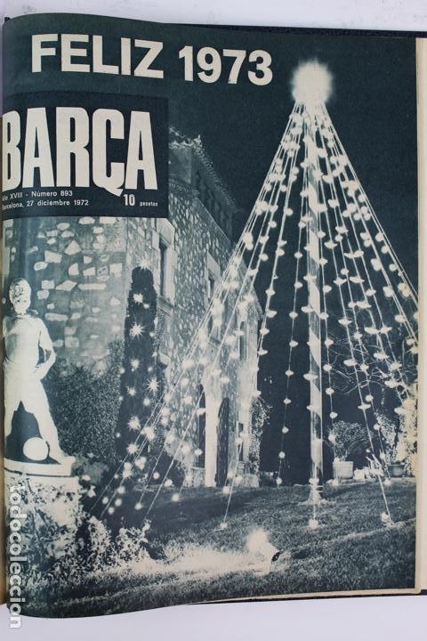 Coleccionismo deportivo: L-5219. REVISTA BARÇA ENCUADERNADA 20 TOMOS DESDE EL AÑO 1956 HASTA AÑO 1975. COMPLETOS. - Foto 40 - 140403982