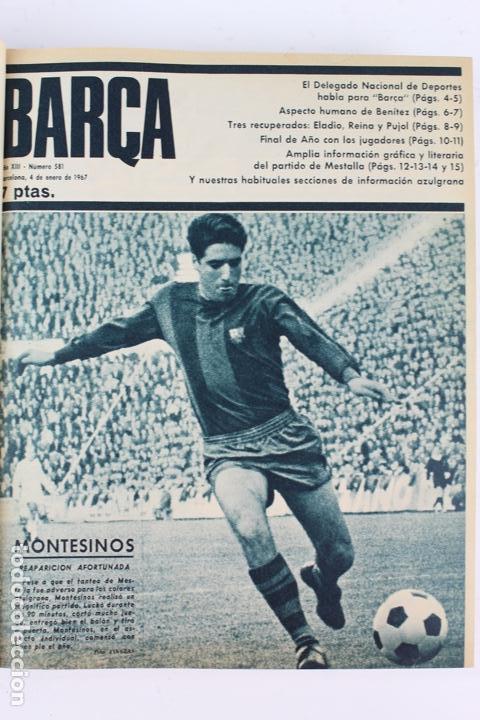 Coleccionismo deportivo: L-5219. REVISTA BARÇA ENCUADERNADA 20 TOMOS DESDE EL AÑO 1956 HASTA AÑO 1975. COMPLETOS. - Foto 41 - 140403982