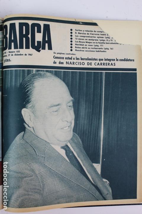 Coleccionismo deportivo: L-5219. REVISTA BARÇA ENCUADERNADA 20 TOMOS DESDE EL AÑO 1956 HASTA AÑO 1975. COMPLETOS. - Foto 42 - 140403982
