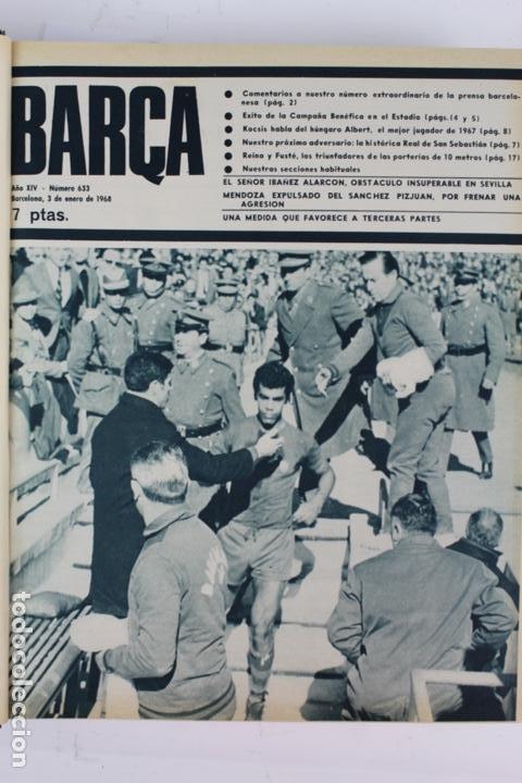 Coleccionismo deportivo: L-5219. REVISTA BARÇA ENCUADERNADA 20 TOMOS DESDE EL AÑO 1956 HASTA AÑO 1975. COMPLETOS. - Foto 43 - 140403982