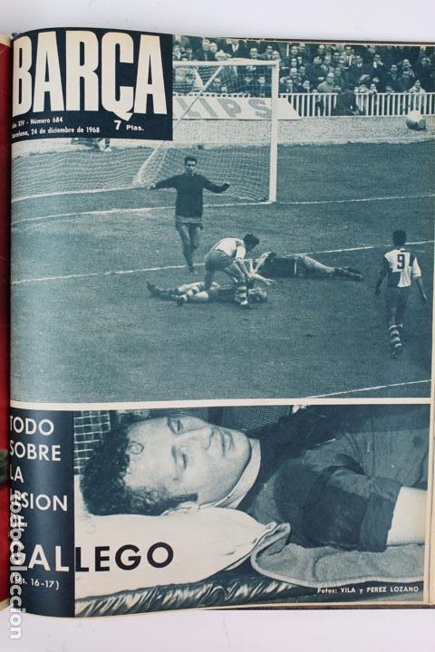 Coleccionismo deportivo: L-5219. REVISTA BARÇA ENCUADERNADA 20 TOMOS DESDE EL AÑO 1956 HASTA AÑO 1975. COMPLETOS. - Foto 44 - 140403982