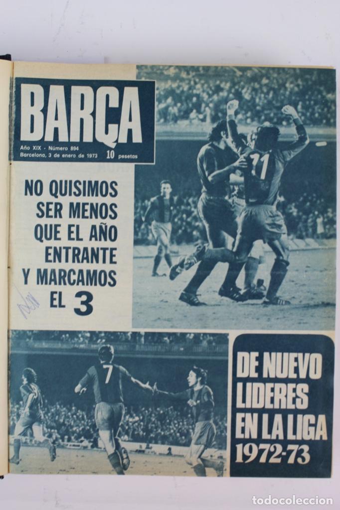 Coleccionismo deportivo: L-5219. REVISTA BARÇA ENCUADERNADA 20 TOMOS DESDE EL AÑO 1956 HASTA AÑO 1975. COMPLETOS. - Foto 45 - 140403982