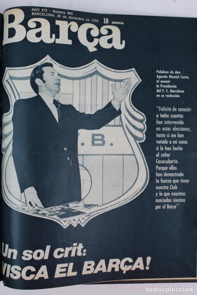 Coleccionismo deportivo: L-5219. REVISTA BARÇA ENCUADERNADA 20 TOMOS DESDE EL AÑO 1956 HASTA AÑO 1975. COMPLETOS. - Foto 46 - 140403982