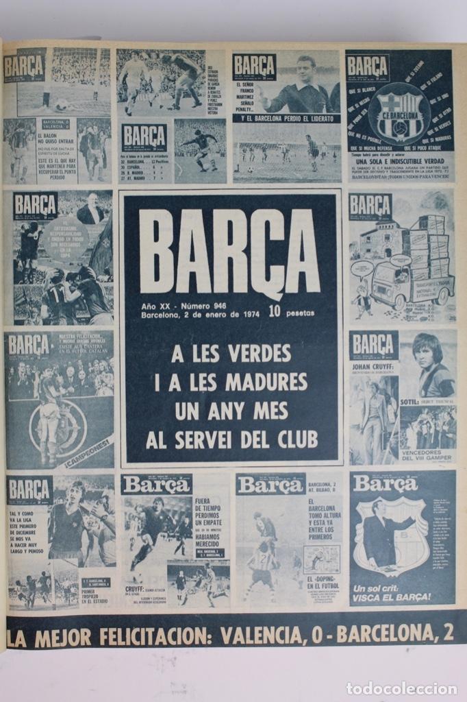 Coleccionismo deportivo: L-5219. REVISTA BARÇA ENCUADERNADA 20 TOMOS DESDE EL AÑO 1956 HASTA AÑO 1975. COMPLETOS. - Foto 47 - 140403982