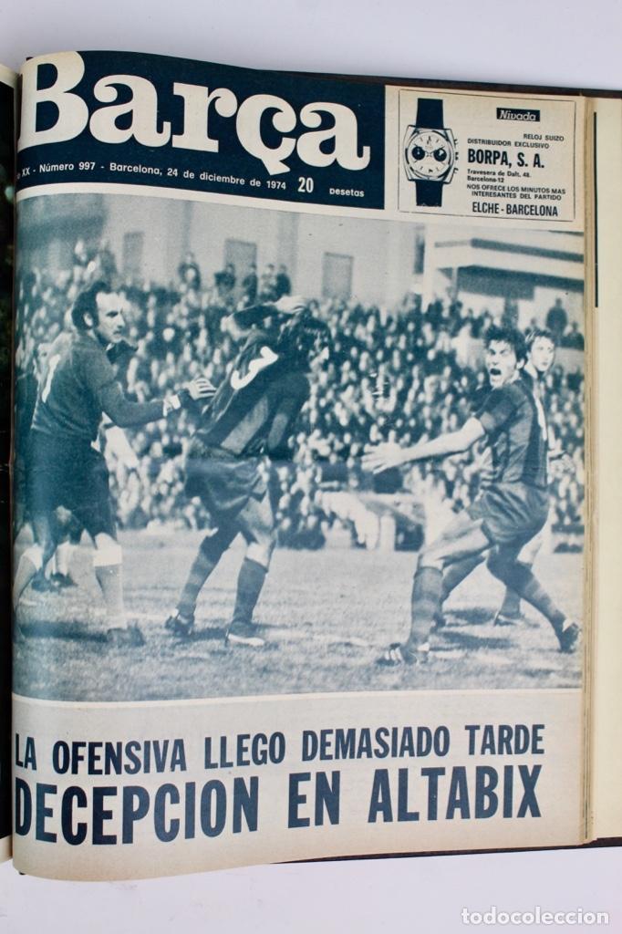 Coleccionismo deportivo: L-5219. REVISTA BARÇA ENCUADERNADA 20 TOMOS DESDE EL AÑO 1956 HASTA AÑO 1975. COMPLETOS. - Foto 48 - 140403982