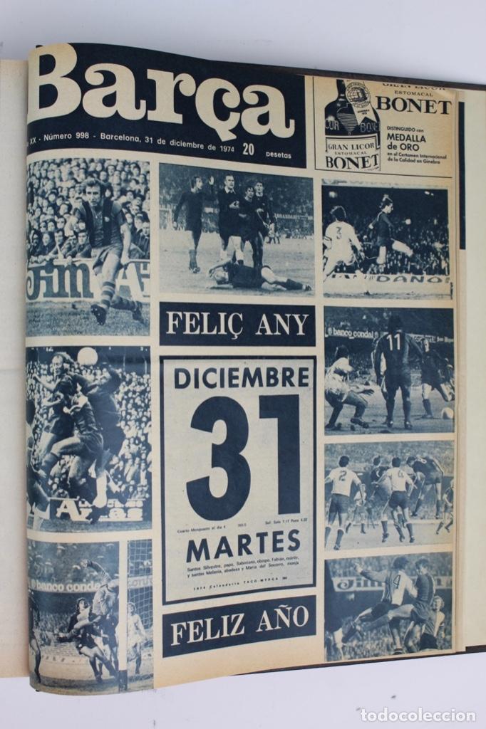 Coleccionismo deportivo: L-5219. REVISTA BARÇA ENCUADERNADA 20 TOMOS DESDE EL AÑO 1956 HASTA AÑO 1975. COMPLETOS. - Foto 49 - 140403982