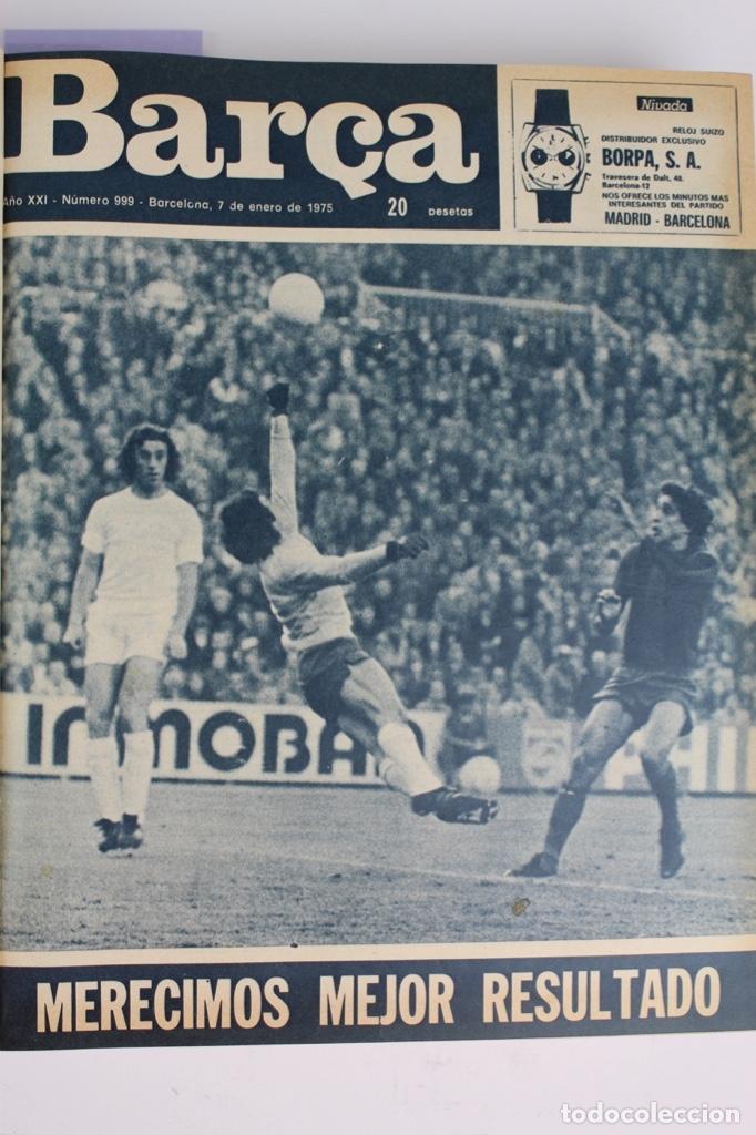 Coleccionismo deportivo: L-5219. REVISTA BARÇA ENCUADERNADA 20 TOMOS DESDE EL AÑO 1956 HASTA AÑO 1975. COMPLETOS. - Foto 50 - 140403982