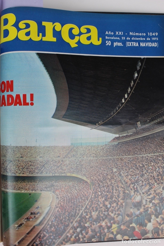 Coleccionismo deportivo: L-5219. REVISTA BARÇA ENCUADERNADA 20 TOMOS DESDE EL AÑO 1956 HASTA AÑO 1975. COMPLETOS. - Foto 51 - 140403982