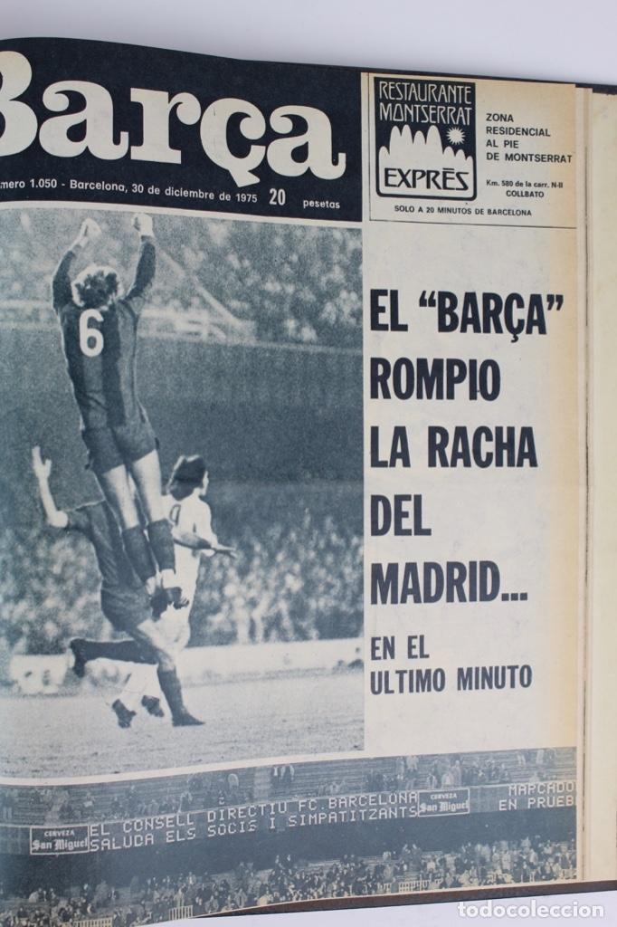 Coleccionismo deportivo: L-5219. REVISTA BARÇA ENCUADERNADA 20 TOMOS DESDE EL AÑO 1956 HASTA AÑO 1975. COMPLETOS. - Foto 53 - 140403982