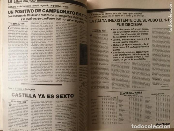 Coleccionismo deportivo: REVISTA REAL MADRID. AÑO 1983 COMPLETO Y CON AUTOGRAFOS DE LA PLANTILLA - Foto 3 - 140691766