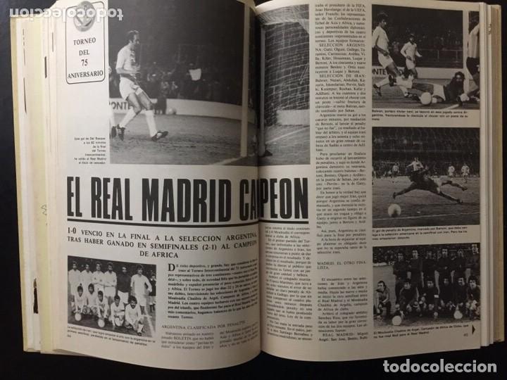 Coleccionismo deportivo: REVISTA REAL MADRID. AÑO 1977 COMPLETO Y CON AUTOGRAFOS DE LA PLANTILLA - Foto 4 - 140693638