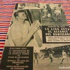Coleccionismo deportivo: (ABJ)REVISTA BARÇA Nº:67(28-3-57)EL CAMP NOU,CELTA 0 BARÇA 2,OLIVELLA,EMPATA EL CONDAL. Lote 140957662