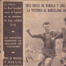 Coleccionismo deportivo: REVISTA DEPORTIVA OLIMPIA 26 ENERO 1954. Lote 141172366