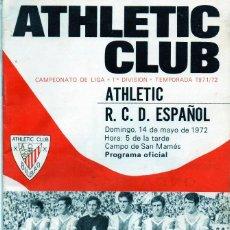 Coleccionismo deportivo: PROGRAMA OFICIAL - ATHLETIC CLUB BILBAO - RCD ESPAÑOL (RCD ESPANYOL) - LOTE DE 3 PROGRAMAS - . Lote 141446206