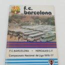 Coleccionismo deportivo: PROGRAMA OFICIAL FC BARCELONA HERCULES CF LIGA 1976-77 AÑO 29 NUMERO 476 31/10 FUTBOL BARÇA AMARILLO. Lote 141941373