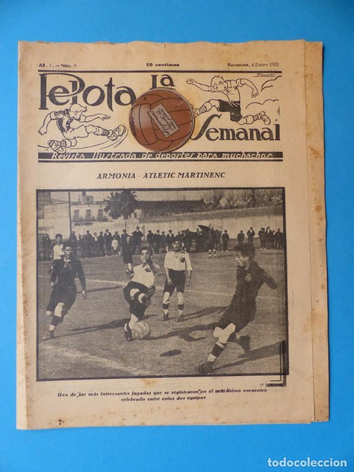 REVISTA LA PELOTA SEMANAL - 4 DE ENERO DE 1923 - AÑO 1, Nº 8 (Coleccionismo Deportivo - Revistas y Periódicos - otros Fútbol)