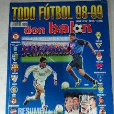 Coleccionismo deportivo: DON BALÓN ESPECIAL TODO FÚTBOL 98-99 N°46. Lote 142112753