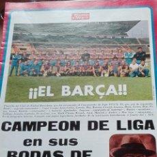 Coleccionismo deportivo: SUPLEMENTO BLANCO Y NEGRO EL BARCELONA CAMPEON DE LIGA EN SUS BODAS DE BRILLANTE. Lote 142781250