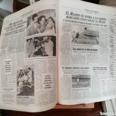 Coleccionismo deportivo: REAL MADRID CF. LOTE DE 100 PERIÓDICOS 100 POSTER Y 100 LÁMINAS. Lote 142830344