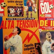 Coleccionismo deportivo: REVISTA EL GOL SEMANAL. NÚMEROS 1 2 Y 3. 1996. RELIQUIA. Lote 143507964