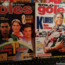Coleccionismo deportivo: REVISTA SOLO GOLES. NÚMEROS 1 Y 2. 1998. RELIQUIA. Lote 143509012