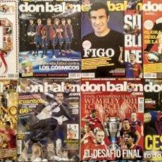 Coleccionismo deportivo: LOTE DE 10 REVISTAS DE FÚTBOL ''DON BALÓN'' Y ''FUTBOLISTA'' (2004-2011) - MESSI, BARÇA, RONALDINHO. Lote 143551786
