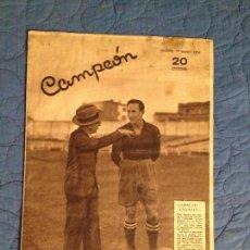 Coleccionismo deportivo: CAMPEON-ESPAÑA-AUSTRIA,MADRID,19 DE ENERO DE 1936. Lote 143924730