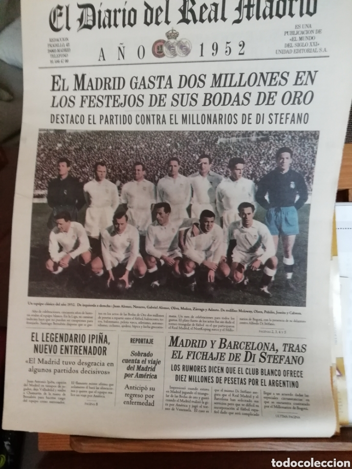 REAL MADRID. COLECCIÓN 100 PERIÓDICOS SEGUIDOS. DIARIO OFICIAL. 1900- 2002 (Coleccionismo Deportivo - Revistas y Periódicos - otros Fútbol)