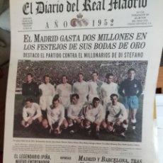Coleccionismo deportivo: REAL MADRID. COLECCIÓN 100 PERIÓDICOS SEGUIDOS. DIARIO OFICIAL. 1900- 2002. Lote 144292140