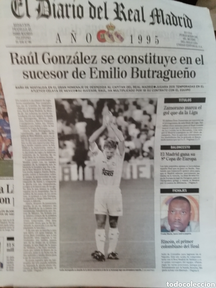 Coleccionismo deportivo: Real Madrid. Colección 100 periódicos seguidos. Diario oficial. 1900- 2002 - Foto 2 - 144292140
