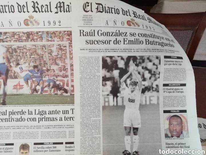 Coleccionismo deportivo: Real Madrid. Colección 100 periódicos seguidos. Diario oficial. 1900- 2002 - Foto 3 - 144292140
