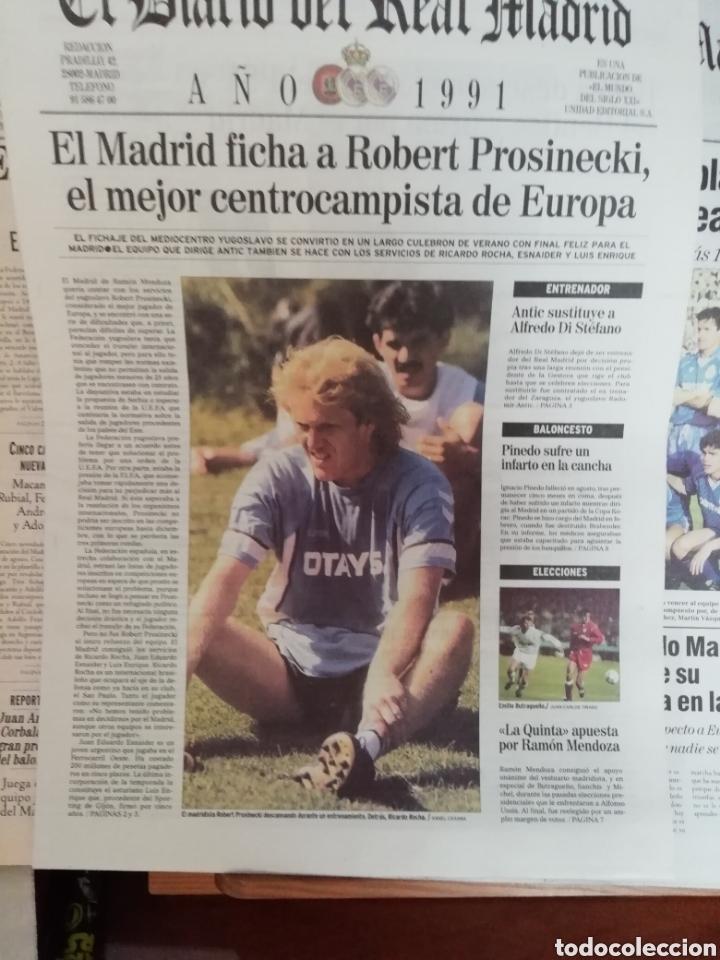 Coleccionismo deportivo: Real Madrid. Colección 100 periódicos seguidos. Diario oficial. 1900- 2002 - Foto 4 - 144292140