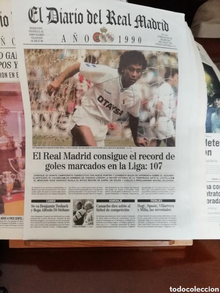 Coleccionismo deportivo: Real Madrid. Colección 100 periódicos seguidos. Diario oficial. 1900- 2002 - Foto 6 - 144292140