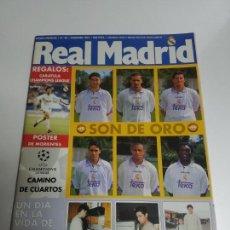 Coleccionismo deportivo: REVISTA OFICIAL REAL MADRID Nº 96 1997 POSTER MORIENTES-SANCHIS-BALON ORO-VICTOR SANCHEZ. Lote 144296742