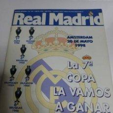 Coleccionismo deportivo: REVISTA REAL MADRID OFICIAL Nº 101 MAYO 1998 FINAL CHAMPIONS LA SEPTIMA POSTER SUKER KAREMBEU. Lote 205710760