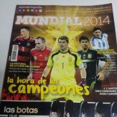 Coleccionismo deportivo: GUIA DEL MUNDIAL 2014 DE MEDIASET. Lote 144297138