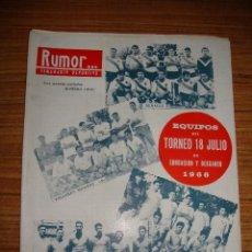 Coleccionismo deportivo: (TC-145) REVISTA RUMOR SEMANARIO DEPORTIVO U D LERIDA HABLA GENTO R MADRID. Lote 145085850