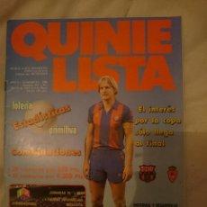 Coleccionismo deportivo: REVISTA QUINIELISTA N 91 - AÑO 1986 -CON SHUSTER -REFM3E2. Lote 145277042