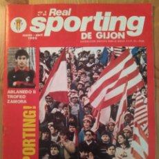 Coleccionismo deportivo: REAL SPORTING DE GIJÓN AÑO 6 N.º 50 MARZO-ABRIL 1985. Lote 145365162