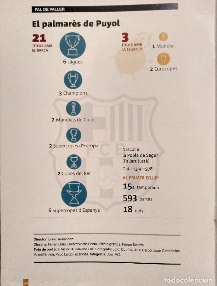 Coleccionismo deportivo: Carles Puyol - Revista-homenaje fotográfico de El periódico (2014) - F.C. Barcelona - Foto 6 - 145778750