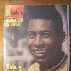 Coleccionismo deportivo: MANCHETE MAGAZINE VIDA E GLÓRIA DE PELÉ CON SINGLE DE VINILO INCLUÍDO. Lote 54205005