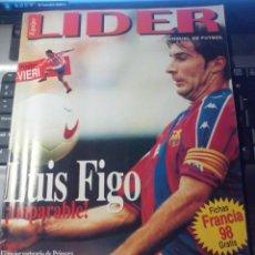 Coleccionismo deportivo: EQUIPO LIDER. Nº 20. 1997. REVISTA MENSUAL DE FUTBOL. LUIS FIGO. FICHAS.. POSTER CHRISTIAN VIERI. Lote 147076338