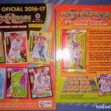 Coleccionismo deportivo: GUIA OFICIAL ADRENALYN DE PANINI CON 2 LAMINAS PROMOCIONALES CON SU SOBRE 2016 L 17. Lote 147085870