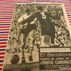 Coleccionismo deportivo: LEAN(28-8-61)TROFEO CARRANZA BARÇA RIVER PLATE Y PEÑAROL,NIZA-BARÇA,KUBALA CUELGA LAS BOTAS.. Lote 147281134
